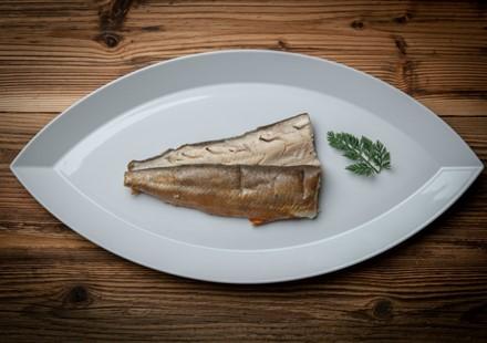 Jobi ®-Bachsaiblingsfilet geräuchert:   Rezepttip für Sie: Geräuchertes Saiblingsfilet mit Rahm- Spargel (Kürbis, Kr
